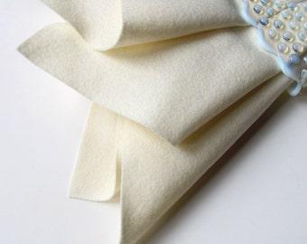 Ecru Felt, Pure Merino Wool, Large Felt Square, 18x18 Inch Square, Felt Sheet, Ivory, Off White, Winter White, Cream, Nonwoven Wool