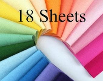Wool Felt, 100% Wool, CHOOSE EIGHTEEN, Pure Merino Fiber, Felt Assortment, European Wool Felt, DMC Embroidery Floss, Wool Stuffing