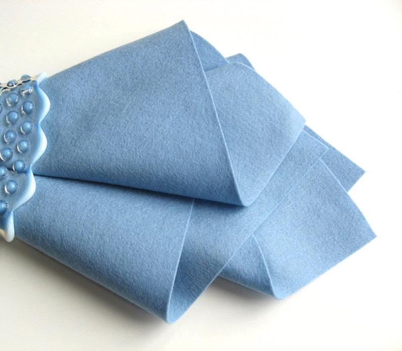Baby Blue Felt 100% Wool Toxin Free Felt image 0