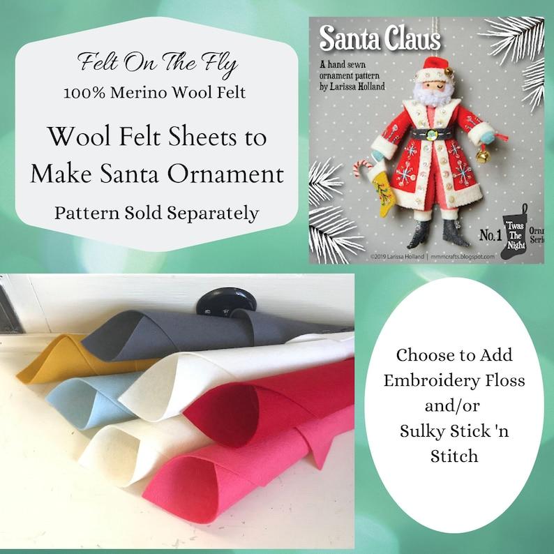 Wool Felt DIY Santa Ornament Felt Set Twas the Night image 0