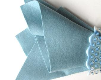 Rain Drop Blue, Wool Felt, 100% Merino, Large Felt Sheet, Wool Felt Square, 1mm Thick Felt, Pale Blue, Dusty Blue