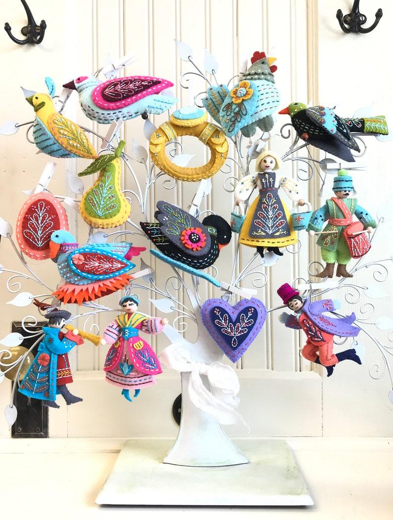 Twelve Days Ornaments Original Colors Supplies Kit 100% image 0