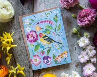 Tanager Glitter Greeting Card