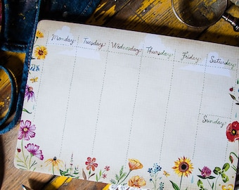 Desktop Notepad - Wildflowers | Stationery | List | Katie Daisy | Notepad