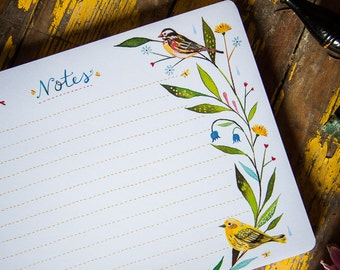 Desktop Notepad - Birds | Stationery | List | Katie Daisy | Notepad