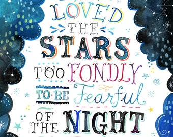 Loved the Stars - various sizes - STRETCHED CANVAS - Katie Daisy art