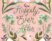 Happily Ever After Print by Katie Daisy