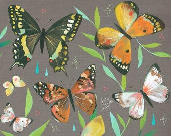 Butterfly Garden art print | Nature Decor | painting | Katie Daisy