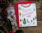 Happy Holidays Notecard Set | Christmas Cards | Holiday Notecards | Katie Daisy