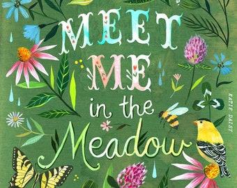 Meet Me In The Meadow  -  vertical print