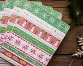 Holiday Stripe | Christmas Cards | Holiday Notecards | Katie Daisy