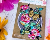 Embroidered Patch - Floral Butterfly
