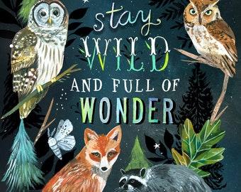 Wild & Wonder art print