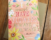 Must Have Flowers - Monet - Greeting Card