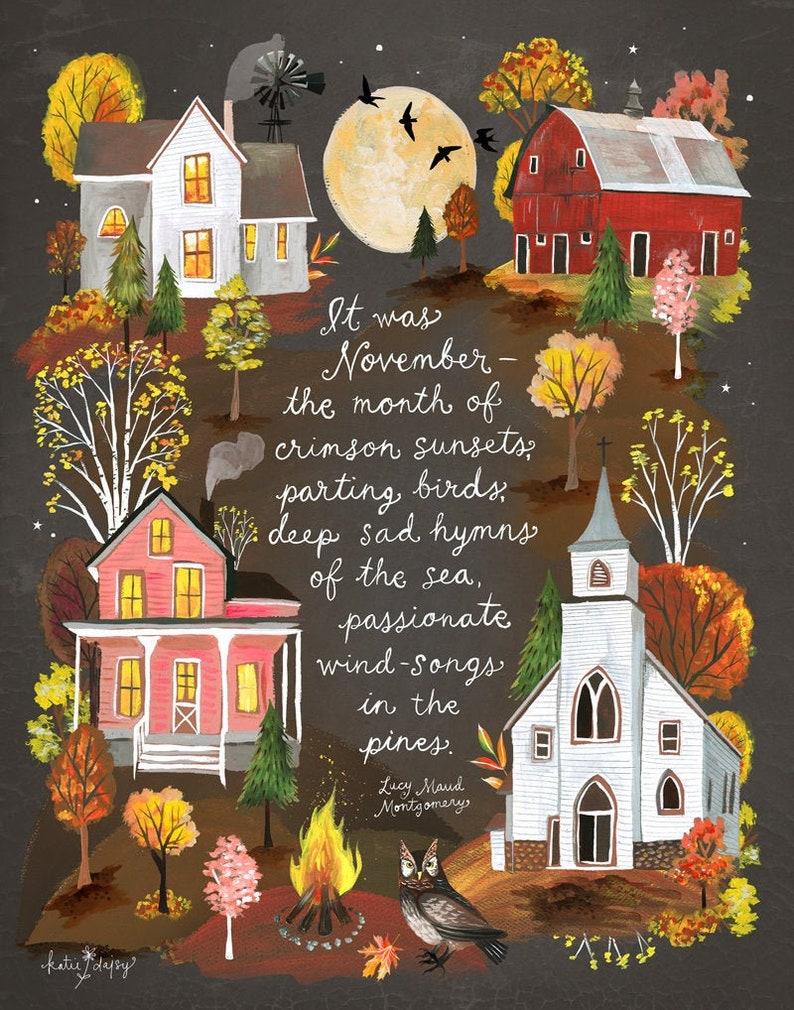 November Art Print image 0