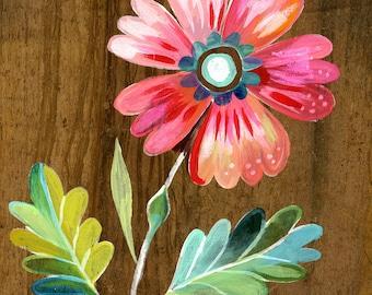 Belle Fleur - various sizes - STRETCHED CANVAS - Katie Daisy art