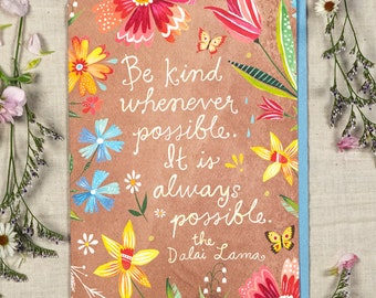 Be Kind - Greeting Card