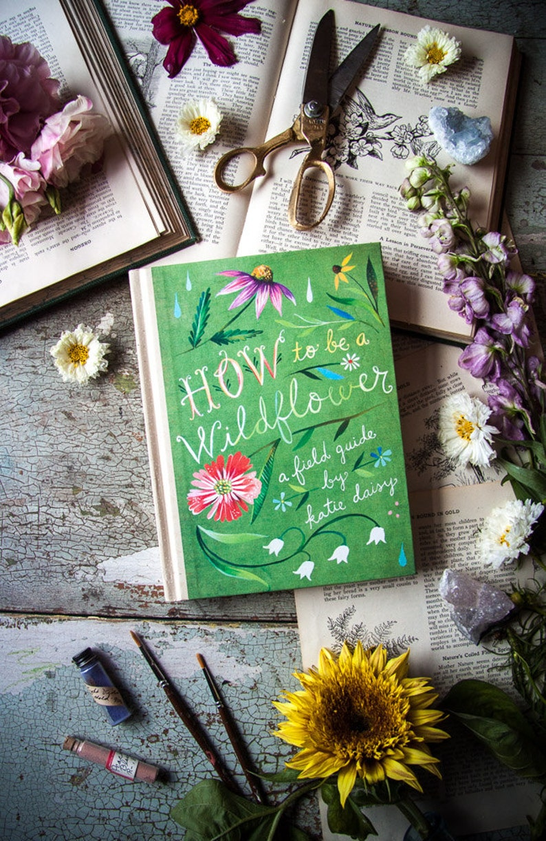 How to Be a Wildflower: A Field Guide by Katie Daisy. SIGNED image 0