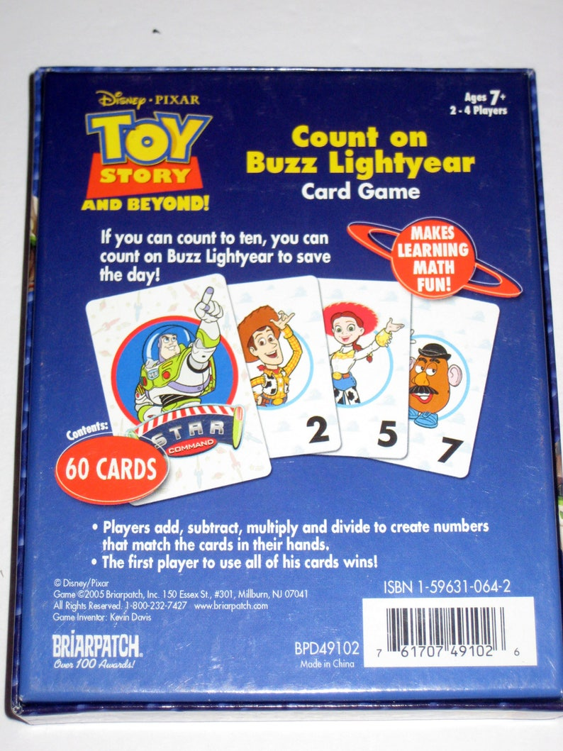 Toy Story Card Game - Count on Buzz Lightyear - for Crafts, Altered Art,  Scrapbooking, Collage, etc