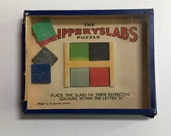 Vintage Dexterity Puzzle by R. Journet of London - The SlipperySlabs Puzzle
