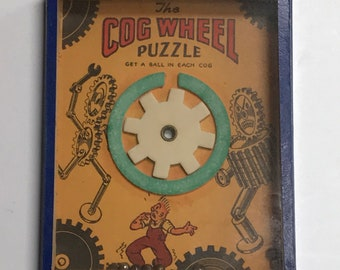 Vintage Dexterity Puzzle by R. Journet of London - The Cog Wheel Puzzle