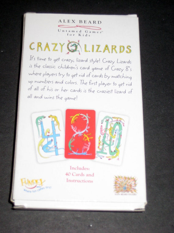 Crazy Lizards Card Game By Alex Beard For Repurposing Like Etsy