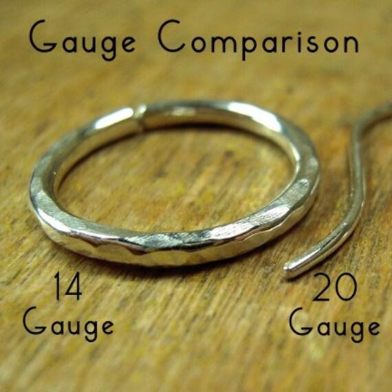 58 inch hoops sterling silver gauged hoops 14 gauge hoops shiny or oxidized 1.6 cm hoops. one pair