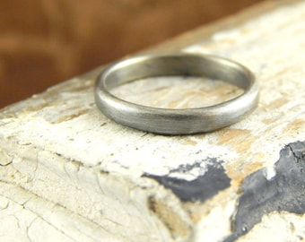 Dainty 2 mm wedding band, simple sterling silver band, slim sturdy thin band, plain silver ring, 1.5 mm thick.