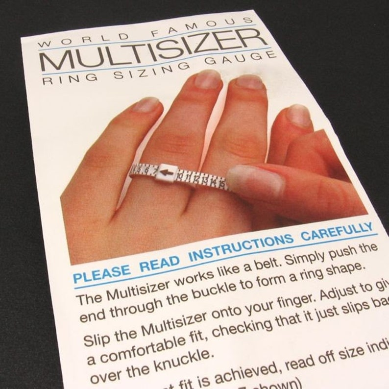 Ring sizer ring sizing gauge reusable plastic finger sizer. image 0