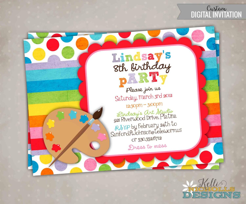 Arte cumpleaños invitación fiesta imprimible para niños   Etsy