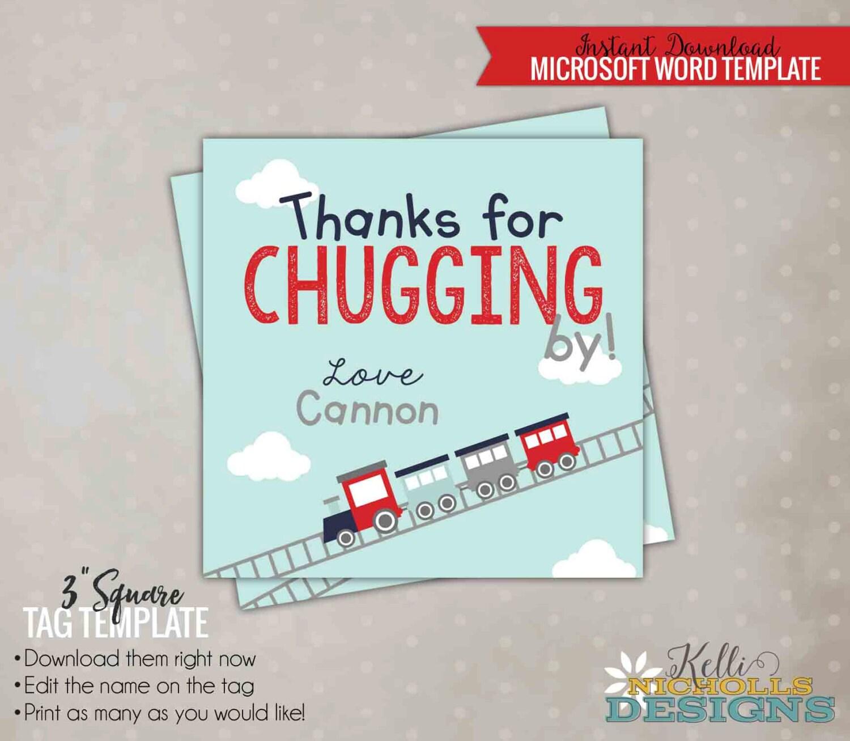 Tren Favor etiqueta plantilla del niño cumpleaños de Choo   Etsy