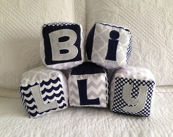 Soft Fabric Blocks Personalized for Baby