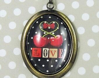 Cherry Love Pendant Necklace