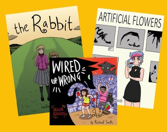 COMIC BUNDLE #1! The Rabbit, Artificial Flowers, and Wired Up Wrong (DELUXE Version)