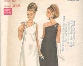 Butterick 4769 1960s Misses One Shoulder Cocktail Dress Pattern Womens Vintage Sewing Pattern Size 10 Bust 32 UNCUT
