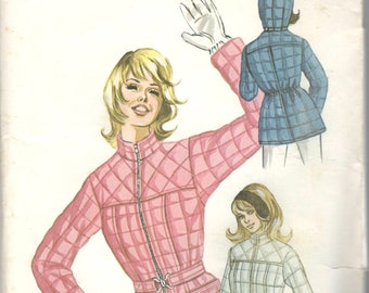 2b9fde779e Kwik Sew 387 1970s Misses Quilted Ski and Sport Jacket Pattern Hood Option  Womens Vintage Sewing Pattern Size 14 16 18 Bust 38 40 41 UNCUT
