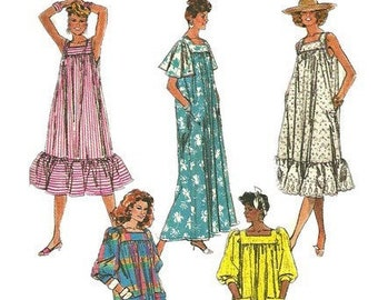 2f46a6061ba 1980s Simplicity 8066 Easy to Sew Loose Fit Misses Dress Pattern Womens Vintage  Sewing Pattern Size Large Bust 40 42 UNCUT