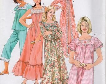 56db784edd Simplicity 4048 Misses Nightgown Pajamas Robe Pattern Womens Sewing Pattern  Size Xs S M Bust 30 - 38 UNCUT