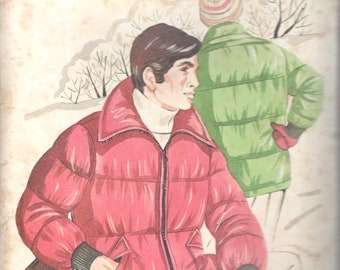 57c815ba05 Kwik Sew 421 1970s Mens Alaskan JACKET Pattern Zip Front Puffin for Quilted  Fabric Vintage Sewing Pattern Size s m l xl Chest 34 - 48 UNCUT