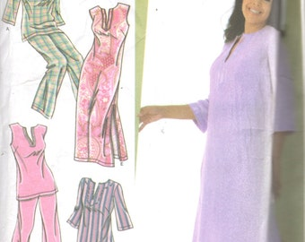 Simplicity 4377 Womens Nightgown 2 Lengths Pajamas Pattern Plus Size Sewing  Pattern Size 18 20 22 24 Bust 40 - 46 UNCUT f41de9bc0