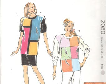 Mauve Design Company Gypsy 1980s Misses SMOCKED Blouse Dress and Belt Pattern Womens Vintage Sewing Pattern 6 8 10 12 14 16 Bust 34-40 UNCUT