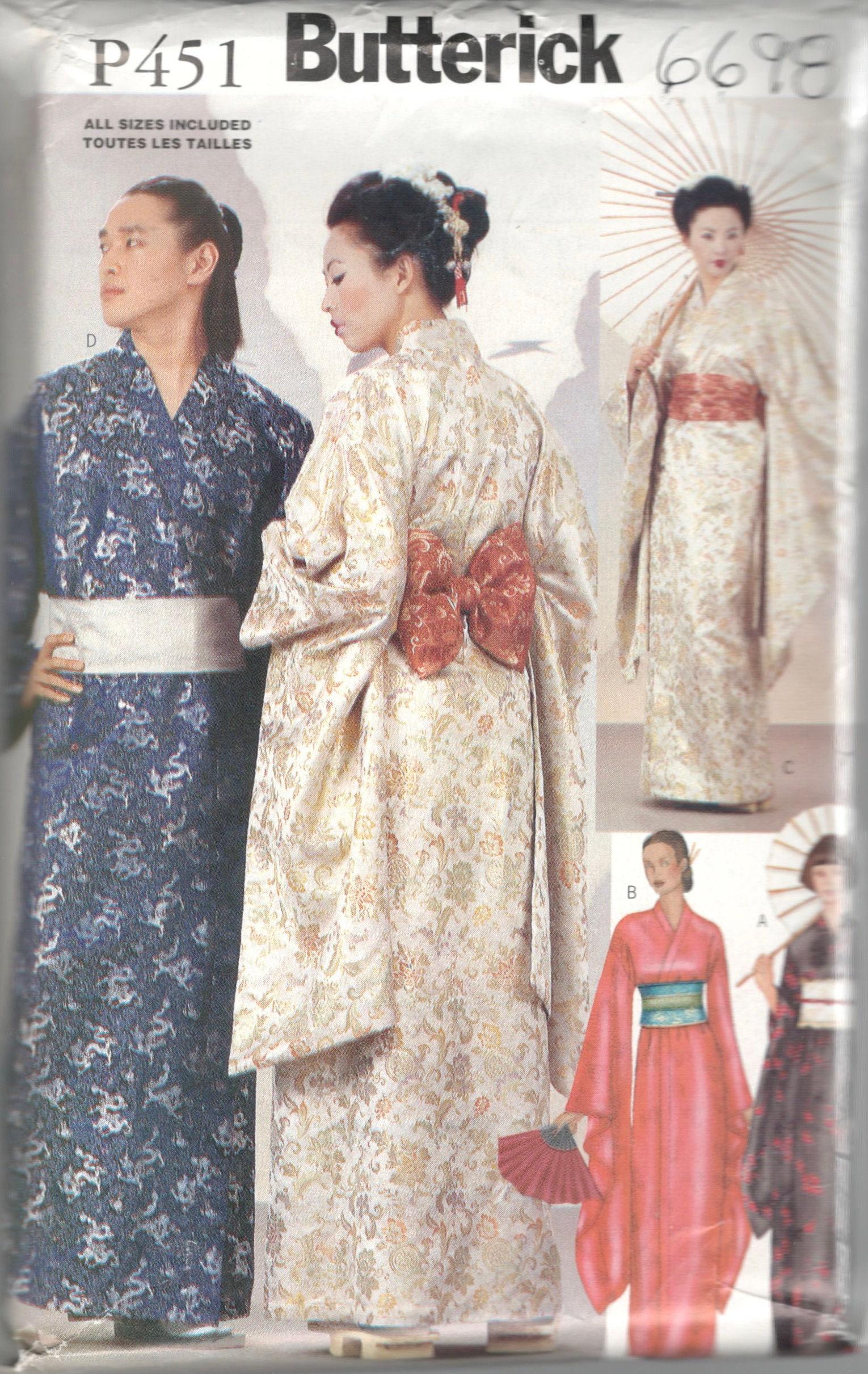 Butterick 6698 P451 Mens Womens einfach Kostüm Muster