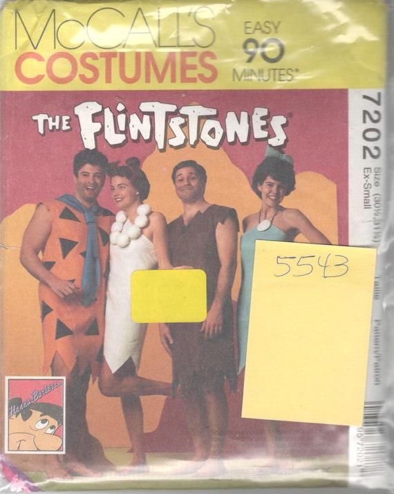 5543 UNCUT McCall/'s Pattern THE FLINTSTONES Costume Adult S Child 6-7// 12-14