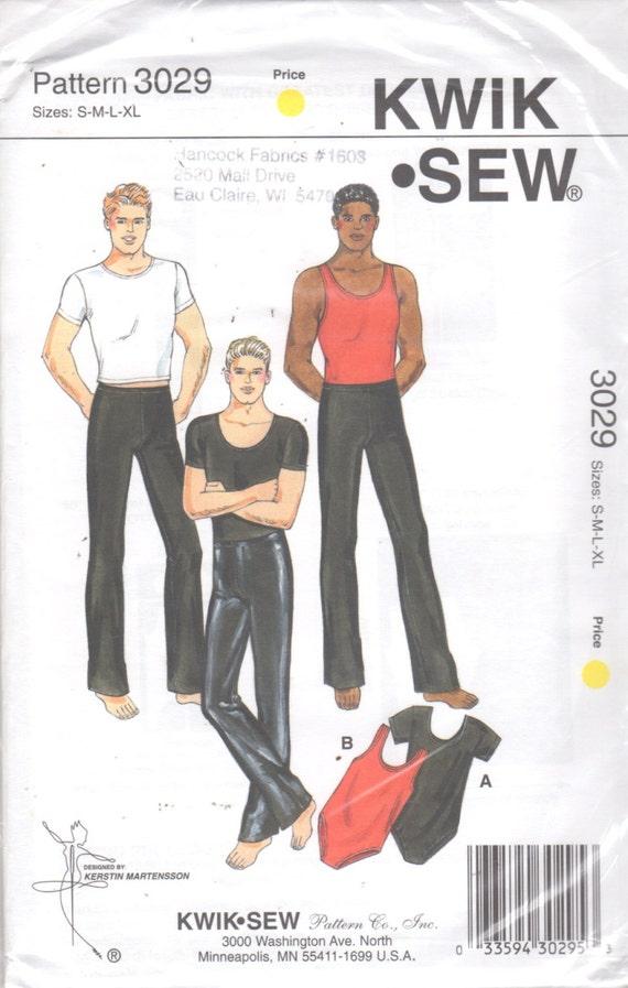 Kwik Nähen 3029 Mens Dance Wear Muster Rundhalsausschnitt | Etsy