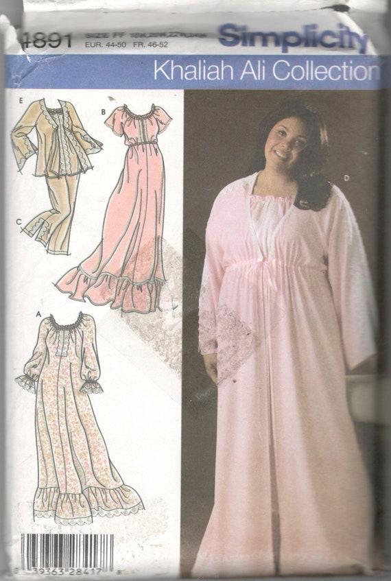 Simplicity 4891 Beautiful Womens Nightgown Pajamas Robe Etsy