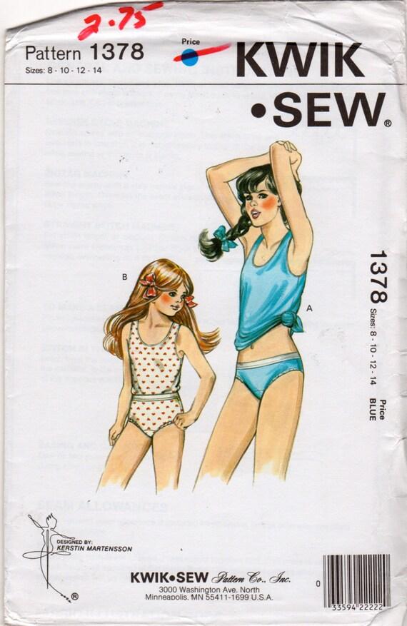 Kwik coser 1378 chicas Tank Top bragas patrón Bikini escritos | Etsy