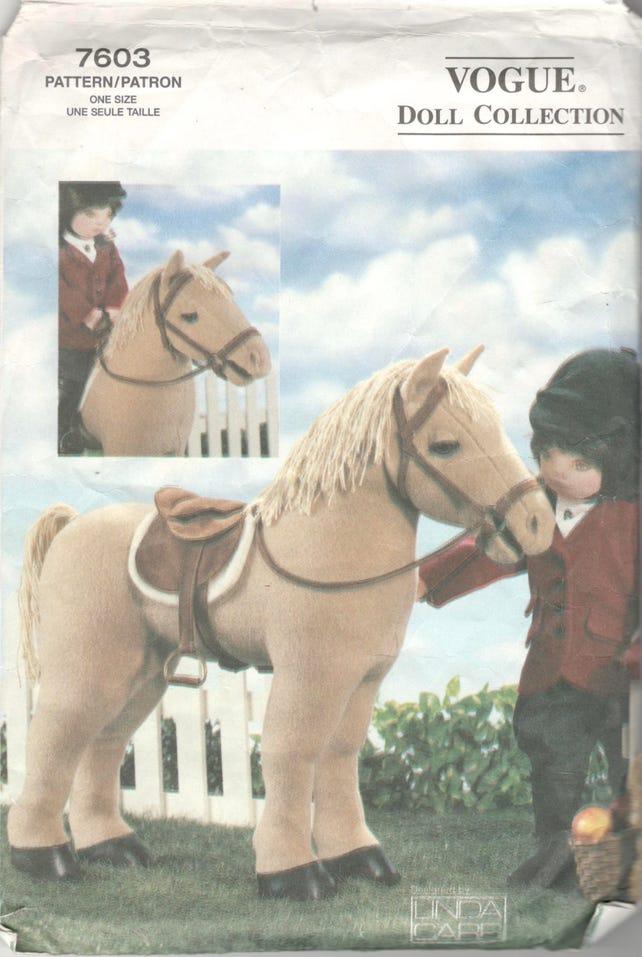 Vogue 7603 P908 P616 Pferd Muster für 18-Zoll-Puppe Sattel | Etsy