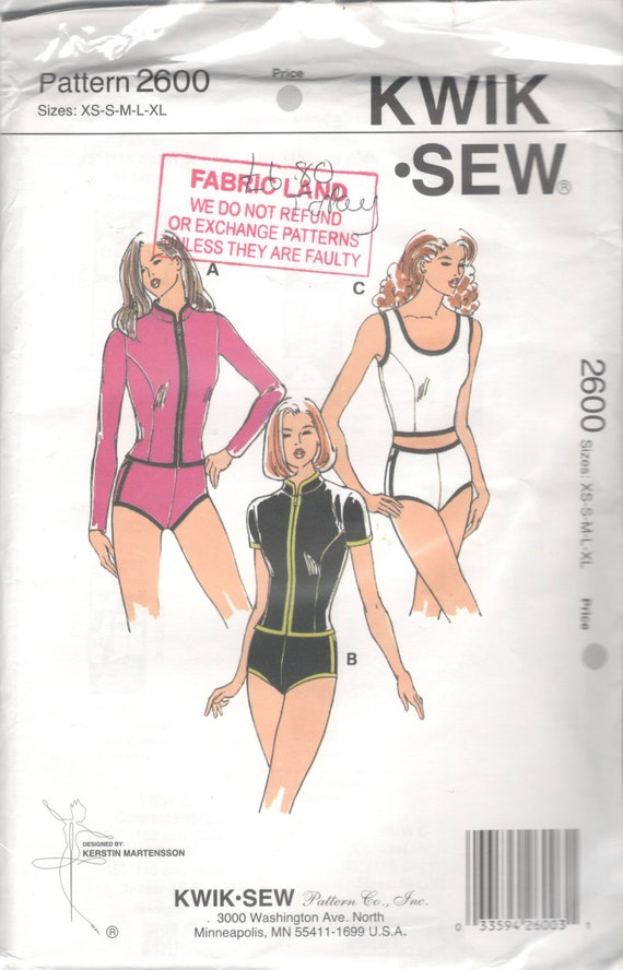 Kwik Sew 2600 Misses Swimsuit Tankini Pattern Briefs Top Zip | Etsy