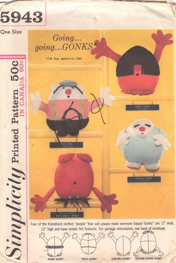 Einfachheit 5943 1960s Set von GONKS Muster Puppen Fred | Etsy