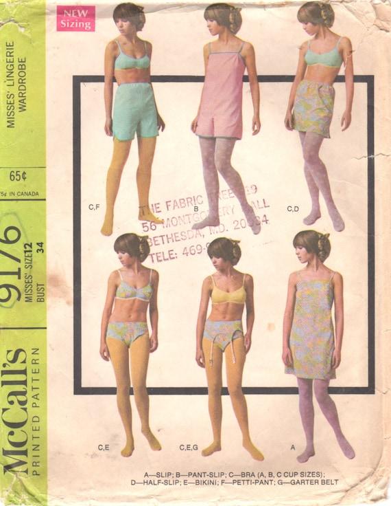 McCalls 9176 60er Jahre die Misses Dessous Muster Höschen BH   Etsy